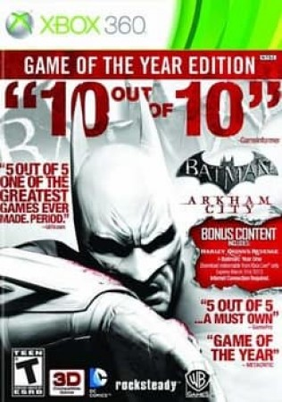 BATMAN:ARKHAM CITY GAME OF THE YEAR