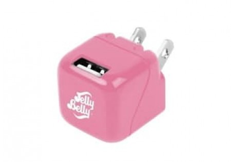 JELLY BELLY 1 PORT 1 AMP WALL CHARGER BUBBLE GUM
