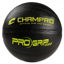 ProGrip 3000 High Performance Basketball; Regulation; Black/Optic Yellow