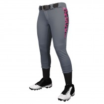 Leadoff Softball Pant; L; Graphite; Youth