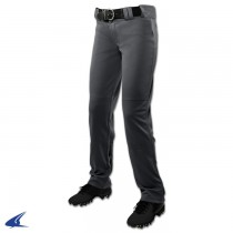 CHOPPER Open Bottom Softball Pant; L; Graphite; Girls'