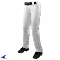 CHOPPER Open Bottom Softball Pant; XL; White; Women's