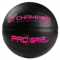 ProGrip 3000 High Performance Basketball; Women's 28.5; Black/Optic Pink