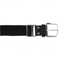 Brute Baseball Belt; Leather Tab; Black; Adult