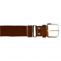 Brute Baseball Belt; Leather Tab; Brown; Adult