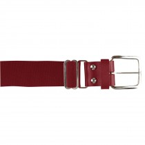 Brute Baseball Belt; Leather Tab; Cardinal; Adult