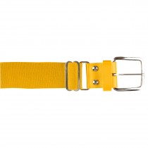 Brute Baseball Belt; Leather Tab; Gold; Adult