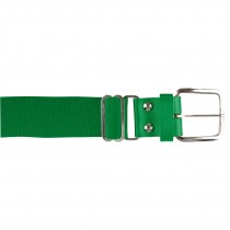 Brute Baseball Belt; Leather Tab; Kelly Green; Adult