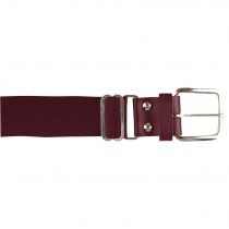 Brute Baseball Belt; Leather Tab; Maroon; Adult