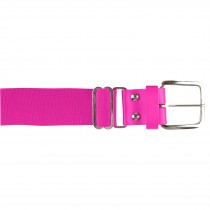 Brute Baseball Belt; Leather Tab; Optic Pink; Adult