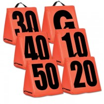 Solid Weighted Football Yard Markers