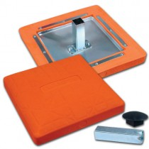 "15"" x 15"" x 3"" Orange Safety Base"