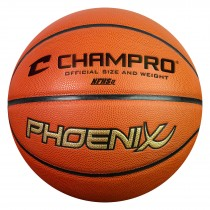 Phoenix Premium Microfiber Basketball; Regulation; Orange