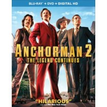 ANCHORMAN 2-THE LEGEND CONTINUES (BR DVD RATED & UNRATED VERSIONS 3 DISCS)