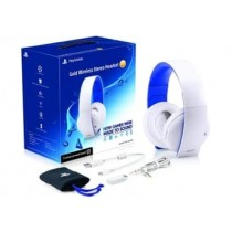 PS4 GOLD WIRELESS STEREO HEADSET (WHITE)-NLA