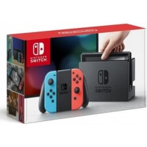 SWITCH CONSOLE WITH NEON BLUE & NEON RED JOY-CONS
