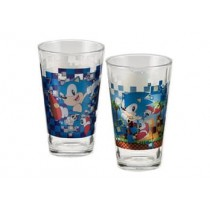 SONIC 16 OZ SET OF 2 LASER DECAL GLASSES