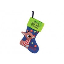 RUDOLPH STOCKING LARGE W/LED