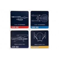 STAR TREK CERAMIC COASTER SET OF 4