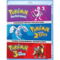 POKEMON MOVIES 1-3 COLLECTION (BLU-RAY FIRST MOVIE 2000 3RD MOVIE)